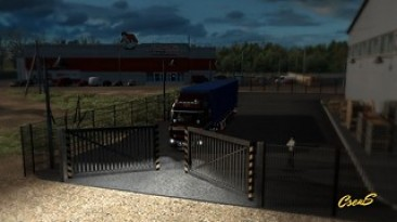 "Euro Truck Simulator 2 ""Animated gates in companies v3.8 [1.38]"""