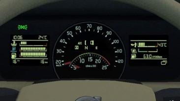 """Euro Truck Simulator 2 """"Volvo FH 2012/2013 Реалистичный бортовой компьютер приборной панели v5.2 (v1.39.x)"""""""