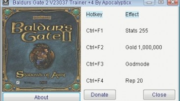 Baldurs Gate 2: Трейнер/Trainer (+4) [23037] {Apocalypticx}