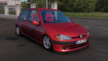 "Euro Truck Simulator 2 ""Peugeot 106 GTI (Varex Sound) v1.4 (1.40.x)"""
