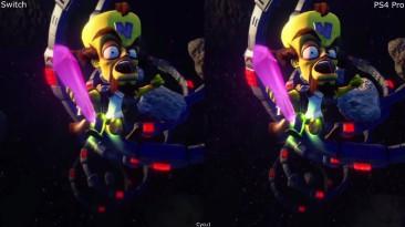 Crash Bandicoot N Sane Trilogy - Сравнение графики Nintendo Switch vs PS4