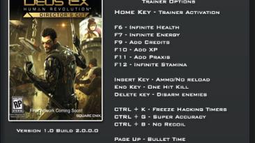 Deus Ex: Human Revolution ~ Directors Cut: Трейнер/Trainer (+14) [1.0 / Build 2.0.0.0] {LinGon}