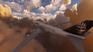 "Microsoft Flight Simulator ""Boeing 747 в стиле Iron Maiden"""