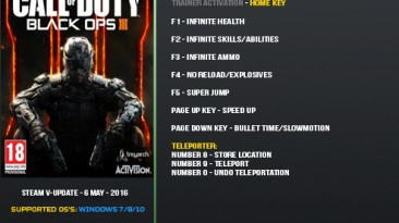 Call of Duty: Black Ops 3: Трейнер/Trainer (+9) [Update 6 May 2016] {LinGon}