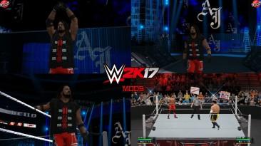 """WWE 2K17 """"AJ Styles SSD & RAW Attire WWE 2K19 Port MOD"""""""