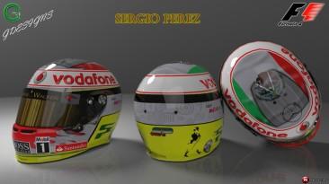 """F1 2012 """"New Sergio Perez Helmet 2013"""""""