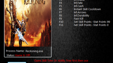 Kingdoms of Amalur Reckoning: Трейнер/Trainer (+10) [1.0.0.2] {MrAntiFun}