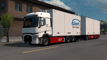 "Euro Truck Simulator 2 ""Тандем аддон для Renault Range T v1.4.2 (1.40.x)"""