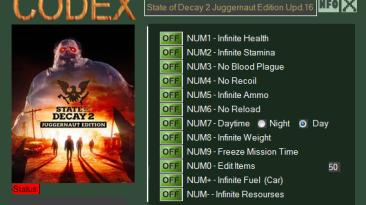 State of Decay 2: Juggernaut Edition: Трейнер/Trainer (+12) [Update 16] {CODEX}