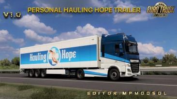 """Euro Truck Simulator 2 """"Личный Трейлер - Hope Trailer v1.0 (v1.39.x)"""""""