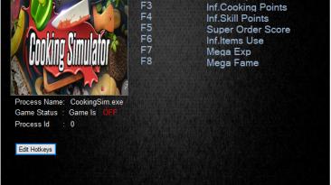 Cooking Simulator: Трейнер/Trainer (+8) [V1.2.2] {MrAntiFun}