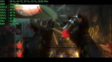 Геймплей BioShock 2 Remastered в 4K Ultra HD на GeForce GTX 1060 6Gb