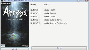 Amnesia - The Dark Descent: Трейнер/Trainer (+5) [1.0.1] {GRIZZLY/PlayGround.ru}
