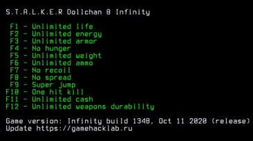 S.T.A.L.K.E.R.: Dollchan 8 Infinity: Трейнер/Trainer (+12) {LIRW / GHL} Update 07.12.2020
