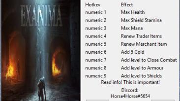 Exanima: Трейнер/Trainer (+7) [0.8] {Horse4Horse}