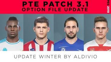 "Pro Evolution Soccer 2019 ""OF PTE 3.1 Winter Transfer Update"""