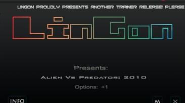 Aliens vs. Predator (2010): Трейнер/Trainer (+1: Immortality / Бессмертие) [1.6: DX11] {LinGon}