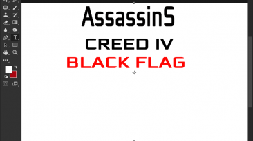 """Assassin's Creed 4: Black Flag """"Шрифт для фотошопа"""""""