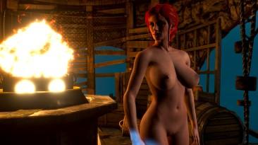 "Witcher 3: Wild Hunt ""Здоровенные титьки(Трисс)"""