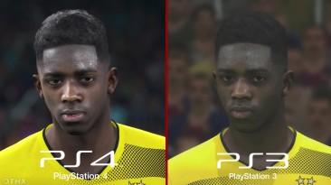 PES 2018 PS4 Vs PS3 - Сравнение лиц