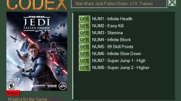 Star Wars Jedi: Fallen Order: Трейнер/Trainer (+8) [1.0] {CODEX}
