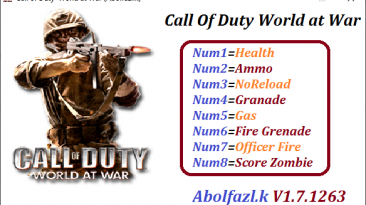 Call of Duty: World at War: Трейнер/Trainer (+8) [V1.7.1263] {Abolfazl.k}
