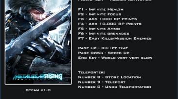 Metal Gear Rising ~ Revengeance: Трейнер/Trainer (+12) [1.0] {LinGon}