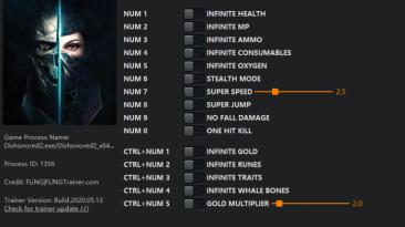 Dishonored 2: Трейнер/Trainer (+15) [1.74 - 1.77.9] {FLiNG}