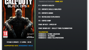Call of Duty: Black Ops 3: Трейнер/Trainer (+9) [Update 21 April 2016] {LinGon}