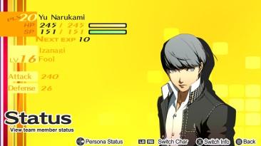 Persona 4: Сохранение/SaveGame (Новая игра+, все статы на пятёрку, лучшее оружие)