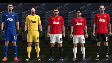 "PES 2012 ""Форма Манчестер Юнайтеда 2012-13"""