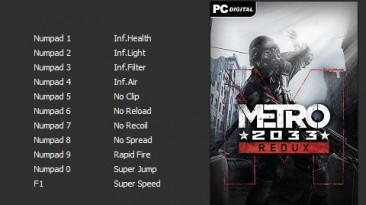 Metro 2033 - Redux: Трейнер/Trainer (+11) [v1.0.0.3 (Update 6)] [PC | RePack от qoob] {Enjoy}
