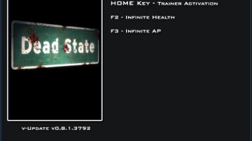 Dead State Beta: Трейнер/Trainer (+2) [0.8.1.3792] {LinGon}
