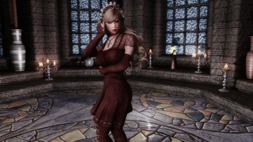 "Elder Scrolls 5: Skyrim ""Osare Gothic Lolita - SSE CBBE BodySlide (с физикой)"""