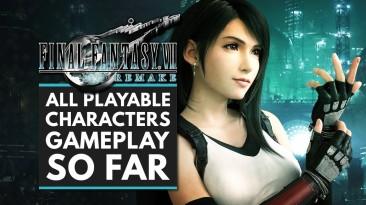 Новый геймплей Final Fantasy 7 с Тифой и Айрис в команде