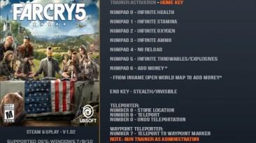 Far Cry 5: Трейнер/Trainer (+10) [1.02] {LinGon}