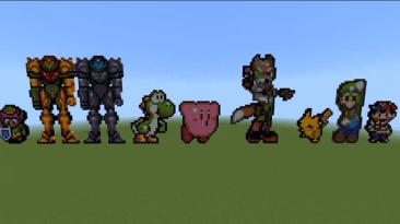 Игрок создал в Minecraft всех персонажей из Super Smash Bros.