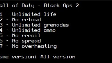 Call of Duty: Black Ops 2: Трейнер/Trainer (+7) [All Versions] {LIRW / GHL}