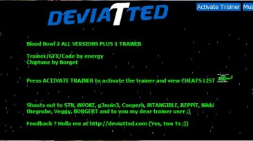 Blood Bowl 2: Трейнер/Trainer (+1: Супер Персонажи / Super Characters) [1.0] {DEViATTED}