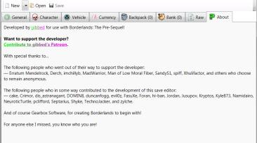Borderlands: The Pre-Sequel: Редактор Сохранений / Save Editor (BLOZ Save Editor) [1.0.25]
