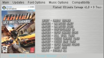 FlatOut - Ultimate Carnage: Трейнер (+9) [1.0] {h4x0r}