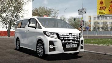 "City Car Driving ""Toyota Alphard 2015 (v1.5.9.2)"""