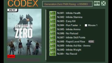 Generation Zero-FNIX Rising:: Трейнер/Trainer (+11) [1858983] {CODEX}