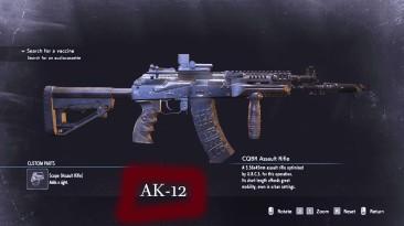 "Resident Evil 3 ""Замена Оружие - AK-12 (CQBR Assault Rifle)"""