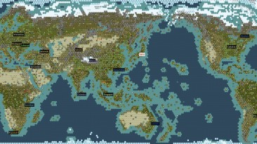 "Sid Meier's Civilization 5 ""The World Extended(карта мира)"""