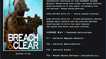 Breach And Clear: Трейнер/Trainer (+4) [1.0] {LinGon}