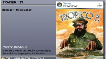 Tropico 3: Трейнер (Бесконечные деньги) [1.13] {CheatHappens}