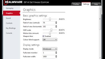 Battlefield 4 Settings Editor 1.1 [Редактор настроек]