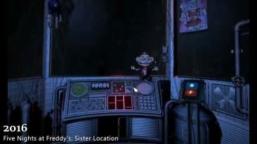 Эволюция Nights at Freddy's Games 2014-2017