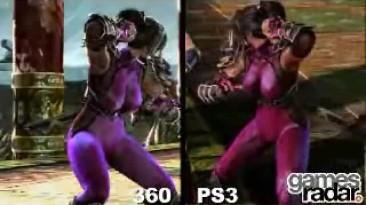 Сравнение физики груди в SoulCalibur 4 на PS3 и Xbox 360